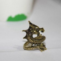 Unleash the Dragon Mystic Ring Size 7 | christinepurr - Jewelry on ArtFire