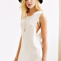 Truly Madly Deeply Split-Arm Distressed Tee Dress - Urban Outfitters