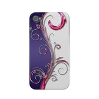 iPhone4 Purple Pink Silver Swirls Case-mate Iphone 4 Case from Zazzle.com