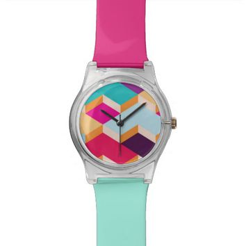 Colourful Shapes - Wrist Watch