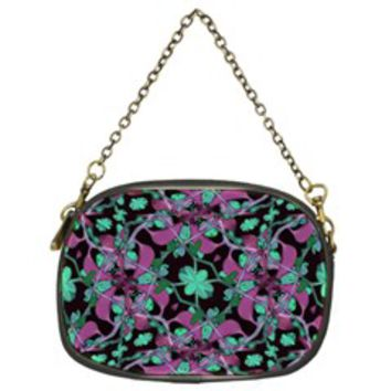 Floral Arabesque Pattern Chain Purse (Two Sided)