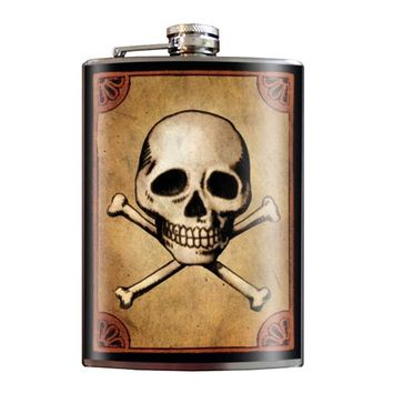 """Skull & Bones"" Flask by Trixie & Milo"
