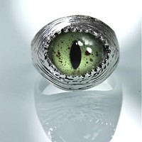 Sterling Silver Snake Eye Adjustable Ring by Blue Bayer Design