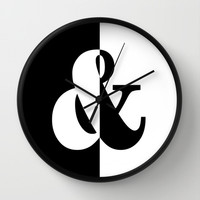 Black & White Wall Clock by BeautifulHomes | Society6