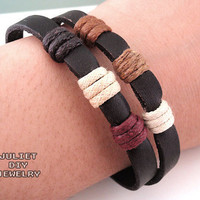 Simple Leather Zen Bracelet | Luulla