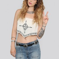 Let It Rock Crop Top - Ivory