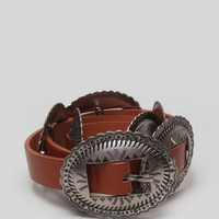 Concho Belt - Brown
