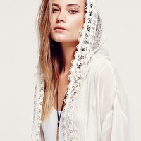 Free People Womens FP ONE Love Lace Jacket - Ivory,