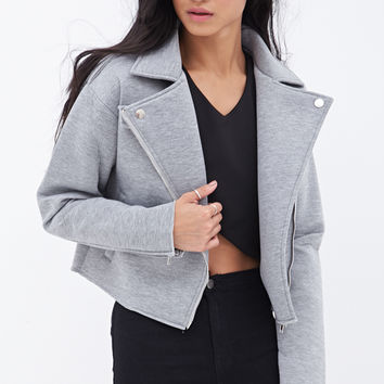 Heathered Moto Jacket