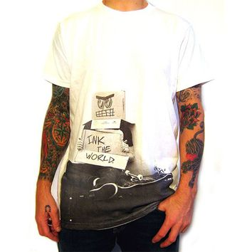 End is Near Men's White Tee by Index Ink