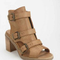 Ecote Heidi Caged Peep-Toe Boot- Brown 9