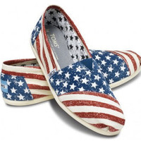 Stars &amp; Stripes Forever Custom TOMS Shoes by ArtisticSoles on Etsy
