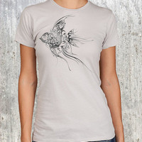 Fish Urban Pattern Illustration Womens by CrawlSpaceStudios