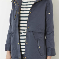 Hooded Lightweight Jacket - Washed Blue