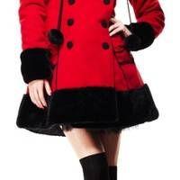 Hell Bunny Sarah Jane Coat Red