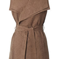 Trendy & Cute Clothing - Ya Los Angeles - Sleeveless Wrap Jacket - chloelovescharlie.com | $42.00