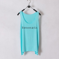 Tiffany n Co  Women Tank Top  Tiffany Blue  Sides by zzzAfternoon