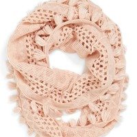 BP. Tassel Open Knit Infinity Scarf (Juniors)