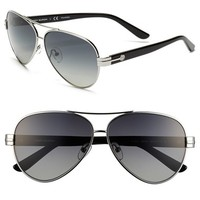 Tory Burch 59mm Polarized Aviator Sunglasses (Online Only)
