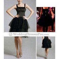 Blair Ball Gown Square Knee-length Capped Organza Black Cocktail/ Homecoming/ Gossip Girl Fashion Dress Season 1 (TCDXL080) [TCDXL080] - $98.29 : wedding fashion, wedding dress, bridal dresses, wedding shoes