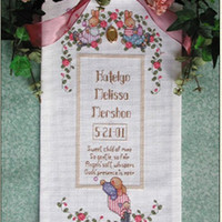 "Counted Cross Stitch Kit Sweet Child Of Mine Lorri Birmingham Designs 8""x17"