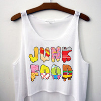 Junk Food Crop Top - Hipster Tops