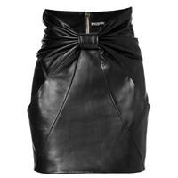 Balmain - Leather Mini Skirt