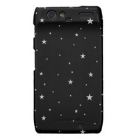 Silver Stars On Black Motorola Droid RAZR Case