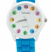 multicolor face watch $15.00 in BLUEWHITE WHITEBLACK YELLOWBLK - Watches | GoJane.com