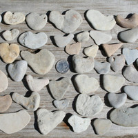 Sea Stone Hearts Alternative Wedding Guest Book Wedding Decoration 50 pcs
