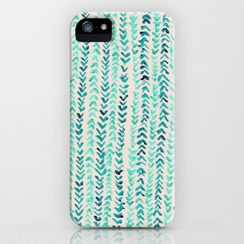 Hand Painted Herringbone Pattern in Mint iPhone & iPod Case by Tangerine-Tane