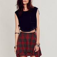 Free People Womens Too Cool for School Mini - Red Combo,