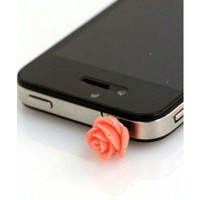 Coral Rose iPhone Plug