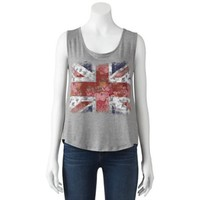 About A Girl Floral Union Jack Tank - Juniors