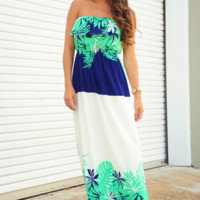 Vacation Days Maxi Dress: Multi