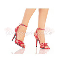 Sexy Patent Leather Platform Peep Toe Sandals [TQL120323022] - £41.59 :