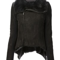 Rick Owens Cropped Shearling Jacket - Julian Fashion - Farfetch.com