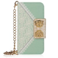 Bow Lace Diamond Wallet Flip Case Cover For Samsung Apple Smart Mobile Phone