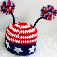 Newborn Fourth of July Monster hat by BeyondGenesis on Etsy