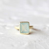 color my world indie aquamarine ring