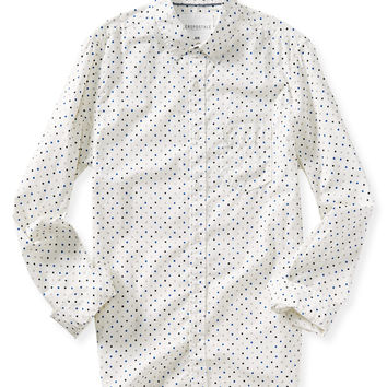 Long Sleeve Dot Woven Shirt