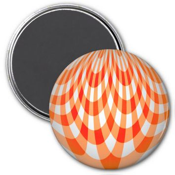 Curves Orange Refrigerator Magnet