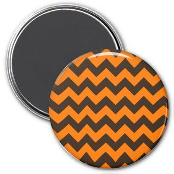 School Chevron Refrigerator Magnet, Orange-Brown