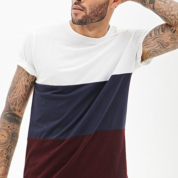 Colorblocked Cotton Tee Shirt
