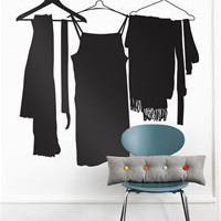 Wardrobe Wallsticker in Black by Ferm Living | Burke Decor