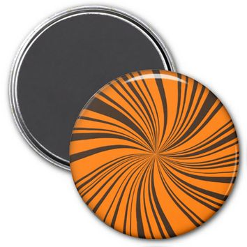 School Colors Twirl Magnet, Orange-Brown