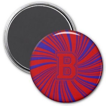 Collegiate Letter Magnet Red-Blue-B