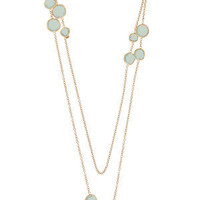 Buy PINTALDI MAURIZIO 18ct gold blue aquamarine necklace from Matches Fashion