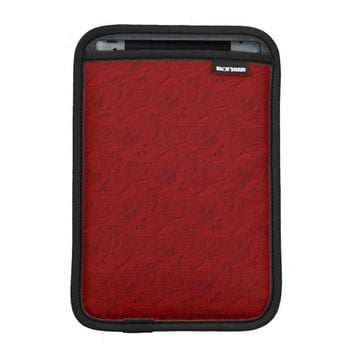 Embossed Roses Red iPad Mini Sleeve Vertical