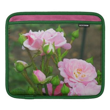 Pale Pink Rose iPad Sleeve Horizontal